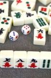 Mahjong in porcellana Fotografia Stock Libera da Diritti