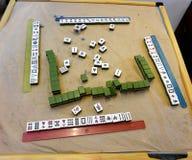 Mahjong Spiel stockfoto
