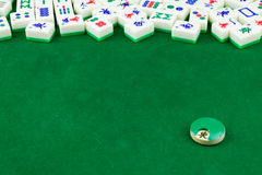 Mahjong Table Top stock image