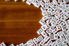 Mahjong tegelplattor royaltyfria foton