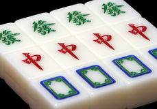 Mahjong Tile. The whole set of the powerful tiles from the mahjong game stock photos