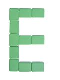 Mahjong tiles letter E Royalty Free Stock Image