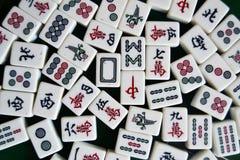 Mahjong tiles. In a small gambling place royalty free stock photos