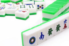 Mahjong, very popular game in China Stock Images
