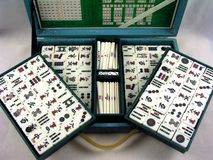 Mahjongg Game in Case stock photo