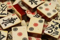 Mahjongg-Stücke Stockfoto