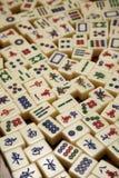 mahjongtegelplattor royaltyfri fotografi
