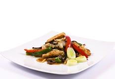Mahlzeit auf der Platte Stockfotos