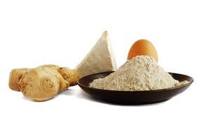 Mahlzeit, Ei und Ingwer Lizenzfreie Stockfotografie