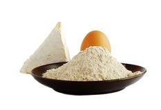 Mahlzeit, Ei und Käse Stockfoto