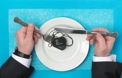 Mahlzeiten des Militärs stockbilder