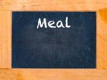 Mahlzeitzeit-Kreidebrett Lizenzfreies Stockfoto