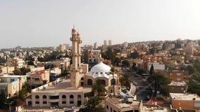 Mahmood meczet w Ahmadiyya Muzułmańskiej społeczności, Kababir, Haifa, Izrael zbiory wideo