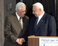 Mahmoud Abbas e Ariel Sharon fotografia stock libera da diritti