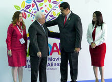 Mahmoud Abbas, Präsident von Palästina und venezolanischer Präsident Nicolas Maduro Lizenzfreie Stockfotos