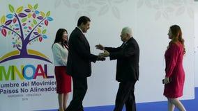 Mahmoud Abbas, presidente de Palestina y presidente venezolano Nicolas Maduro metrajes