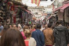 Mahmut帕沙义卖市场在伊斯坦布尔 库存图片