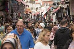 Mahmut帕沙义卖市场在伊斯坦布尔 免版税图库摄影
