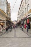 Mahmut帕沙义卖市场在伊斯坦布尔 免版税库存图片
