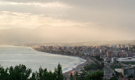 Mahmutlar镇, Alanya.Turkey 免版税库存照片