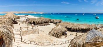 Mahmya Beach on the island in the Red Sea, Egypt.  Royalty Free Stock Photos