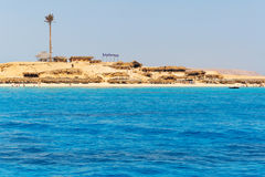 Mahmya island with turquoise water of Red Sea Stock Photo