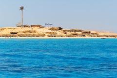 Mahmya wyspa z turkus wodą Czerwony morze Zdjęcie Stock