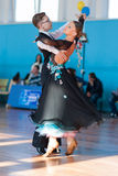 Mahnach Nikita et programme de norme de Karchevskaya Yuliya Perform Youth-2 Images stock