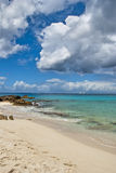 Maho Bay, Saint Maarten Coast, Dutch Antilles Stock Image