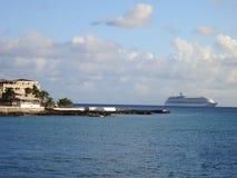 Maho Beach Airport bei Sint Maarten Stockbilder