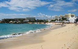 Maho Beach stock photo