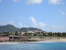 Maho Beach, Sint Maarten Photographie stock libre de droits