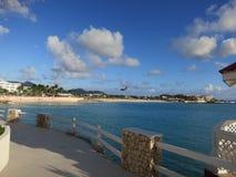 Maho Beach, Sint Maarten Imagem de Stock Royalty Free