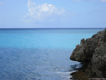 Maho Beach, Sint Maarten. Blue waters at Maho Beach, Sint Maarten Royalty Free Stock Image