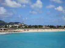 Maho Beach, Sint Maarten. Picture taken from terrace of Sonesta Maho Beach Hotel, Sint Maarten Stock Photo