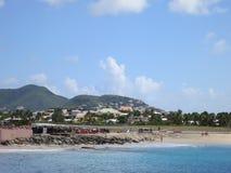 Maho Beach, Sint Maarten. Maho Beach, after the storm, Sint Maarten Royalty Free Stock Photography
