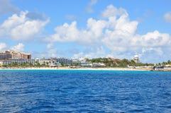 Maho Beach, St.Maartin Royalty Free Stock Images