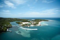 Mahoń zatoka, Roatan, Honduras Zdjęcia Royalty Free