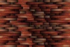 Mahogany abstract wooden wall design Royalty Free Stock Photos