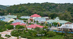 Mahogany Bay. Shopping area by the docks Stock Image