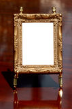 Mahogany, brass & gilded frame Stock Photos