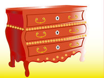 Mahogany chest Stock Photos
