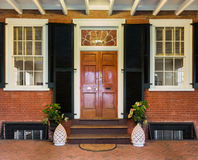 Mahogany doorway and entrance hall UVA Royalty Free Stock Images