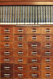Mahogany Library Stock Photo