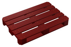 Mahogany pallet,  on white background. 3D render Royalty Free Stock Photos