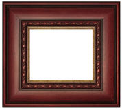 Mahogany Picture Frame. Wooden mahogany picture frame isolated on white backround Royalty Free Stock Image