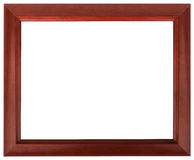 Mahogany picture frame isolated on white color. Stock Photos