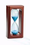 Mahogany sand timer isolated on white background stock photo