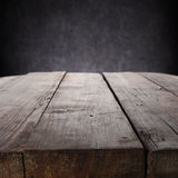 Mahogany table on grey Royalty Free Stock Photo