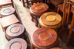 Mahogany wood chairs Royalty Free Stock Photo